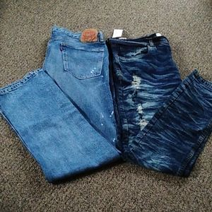 2 pairs of mens pants size 38/34  and 36/34